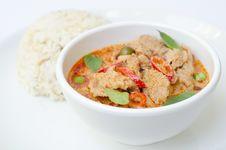 Free Thai Food Name Pa Nang Royalty Free Stock Photography - 28947587