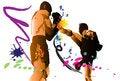 Free Muai Thai Kickboxing Stock Images - 28956144