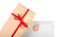 Free Gift Box And Love Letter Royalty Free Stock Photography - 28957207