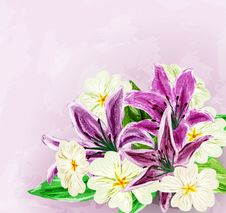 Free Painted Flower Background Royalty Free Stock Photos - 28951948