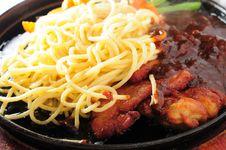 Free Pan Fried Steak Apaghetti Royalty Free Stock Photography - 28953867