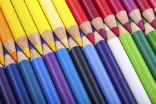 Free Set Of Colored Pencils Stock Photos - 28953883