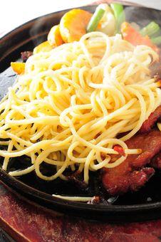 Pan Fried Spagetti Stock Image