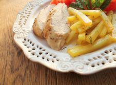 Sliced Chicken Breast Stock Images