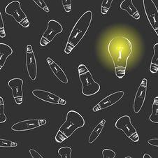 Free Light Bulbs Seamless Royalty Free Stock Photography - 28954287