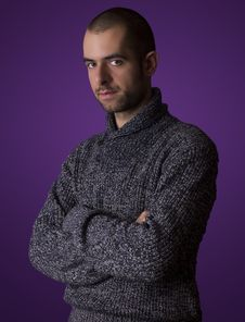 Man In A Woolen Sweater Royalty Free Stock Photography