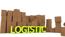 Free Cardboards And Logistic Word Stock Photography - 28960442