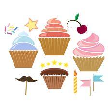 Free Illusration Of Cupcakes Royalty Free Stock Photo - 28962285