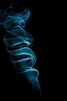 Free Glowing Smoke On  Black Background Royalty Free Stock Photography - 28963187