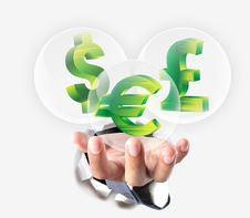 Free Money Icons For Business Finance Royalty Free Stock Photo - 28965335