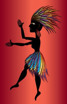Free Black Aborigine Woman Dancing Royalty Free Stock Photo - 28967075