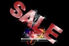 Sale 3D Royalty Free Stock Photography
