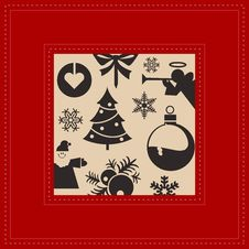 Free Christmas Postcard Royalty Free Stock Photography - 28974847