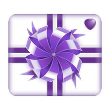 Free Purple Valentines Gift Box Stock Photography - 28976662