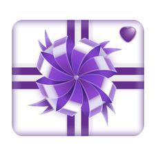 Purple Valentines Gift Box Stock Photography