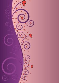 Free Elegant Violet Love Beauty Background For Valentin Royalty Free Stock Photography - 28976867