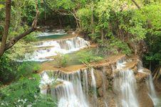 Free Deep Forest Waterfall In Kanchanaburi, Thailand Stock Photography - 28982582
