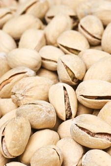 Background Of Many Ripe Pistachios Stock Photo