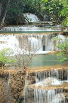Free Deep Forest Waterfall In Kanchanaburi, Thailand Stock Images - 28982734