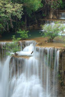 Free Deep Forest Waterfall In Kanchanaburi, Thailand Stock Image - 28982841
