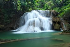 Free Deep Forest Waterfall In Kanchanaburi, Thailand Stock Photo - 28982920