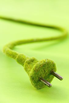Free Green Electric Plug Royalty Free Stock Photography - 28982977