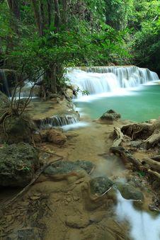 Free Deep Forest Waterfall In Kanchanaburi, Thailand Stock Photography - 28983172