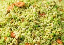Green Rice With Shrimp Close-up Stock Photos
