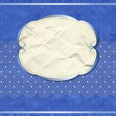Free Blue Vintage Banner With Lace Stock Photos - 28984463