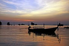 Free Fisherboat At Sunset Royalty Free Stock Photo - 28985195