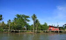 Waterfront House In Thai Style, Thailand Royalty Free Stock Image