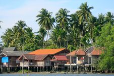 Free Waterfront House In Thai Style, Thailand Stock Photo - 28988920