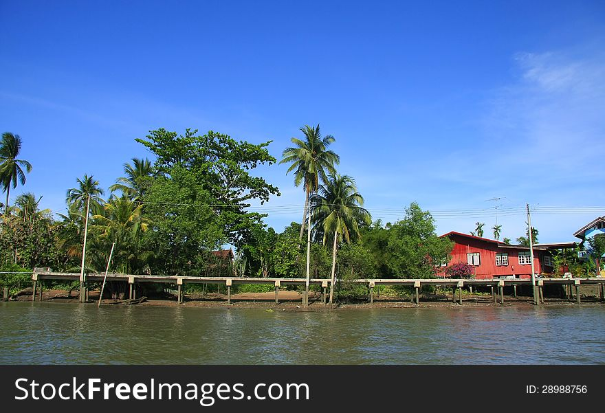 Waterfront house in thai style, Thailand