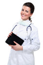 Free Young Beautiful  Woman Doctor With Tablet Stock Images - 28993944