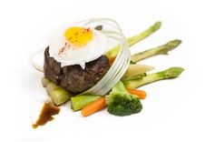 Free Steak With Eggs Royalty Free Stock Photos - 28990888