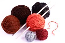 Free Set For Knitting Royalty Free Stock Images - 28992859