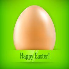 Free Egg On Green & Text Stock Photos - 28992943