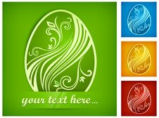 Free Painted Easter Egg On Color & Text Royalty Free Stock Photo - 28992975