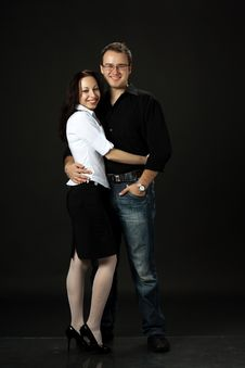 Free Beautiful Young Smilling Couple Royalty Free Stock Photography - 28993077