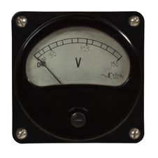 Free Retro Old Voltmeter Royalty Free Stock Images - 28993079