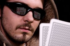 Free Poker In His Eyes Stock Photos - 28993213