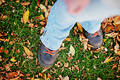 Free Shoes In Fall Royalty Free Stock Images - 295389