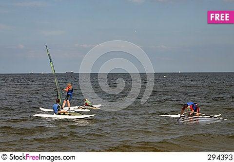 Free Windsurfing Lesson 2 Stock Photos - 294393