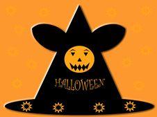 Halloween Pumpkin Hat Stock Photography