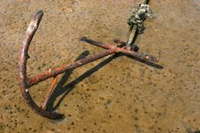 Rusted Anchor Stock Photography