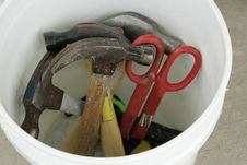 Free Tools In A Bucket Royalty Free Stock Photo - 292175