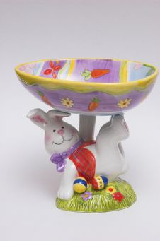 Free Easter Candy Dish Royalty Free Stock Photography - 292667
