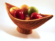 Free Fruit In Crescent Basket Royalty Free Stock Photos - 292728