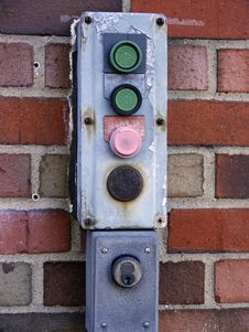 Gate Control Buttons Stock Image