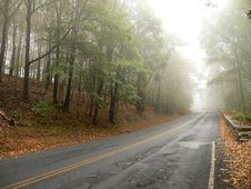 Free Road Disappears In The Mist Stock Images - 293004